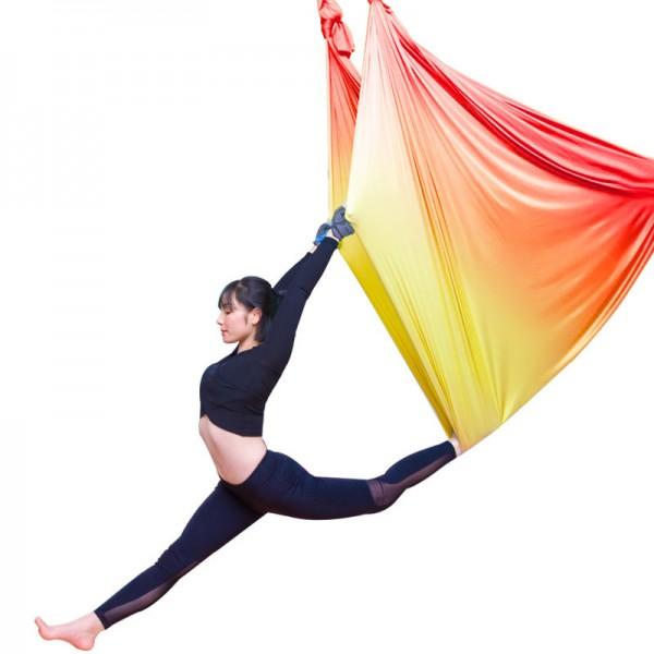 Гамак для йоги 5 метров желто-красный