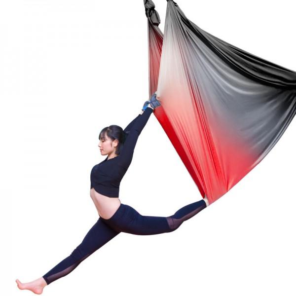 Гамак для йоги 5 метров красно-черный