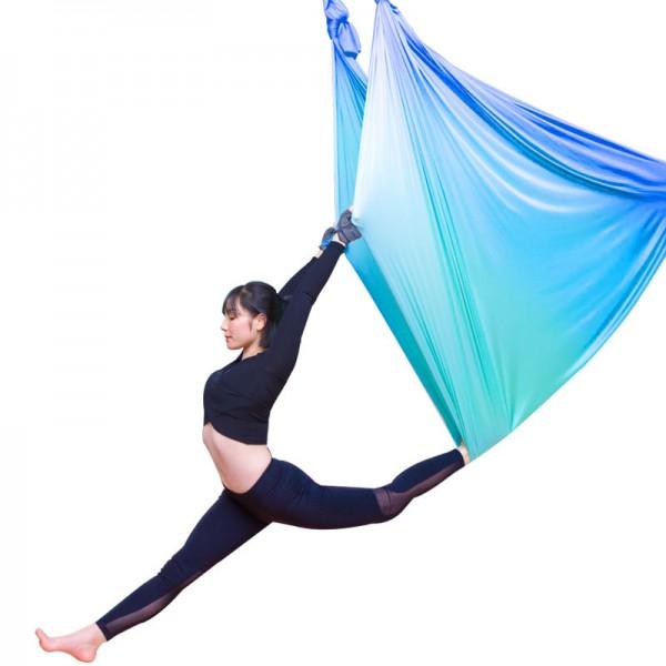Гамак для йоги 5 метров сине-голубой